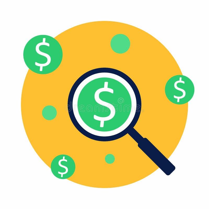 Vinstanalys, finans, affär, vektor, plan symbol vektor illustrationer