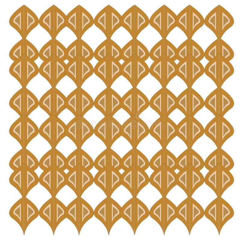 VINT exotique de luxe Morceaux d'or de mandalas sur le blanc illustration de vecteur