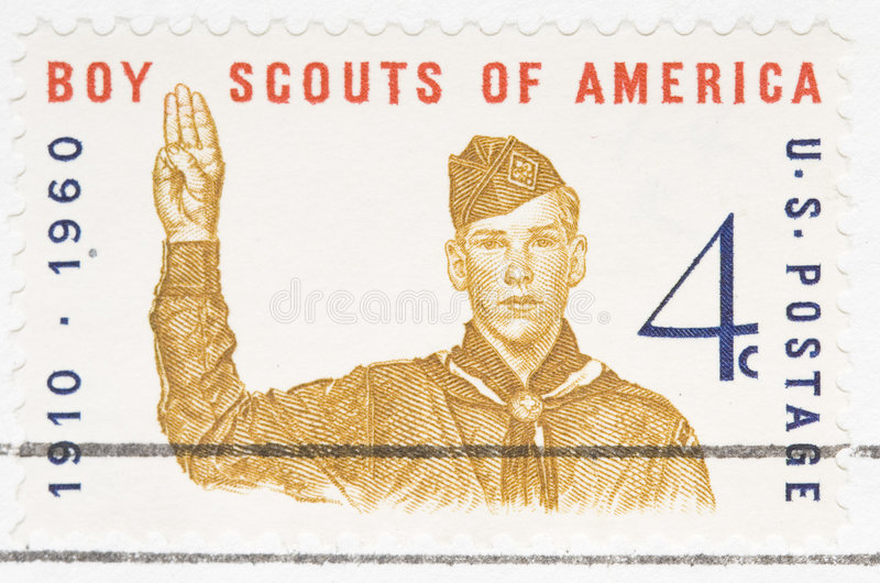 Vintage 1960 US Stamp Boy Scouts Royalty Free Stock Photography