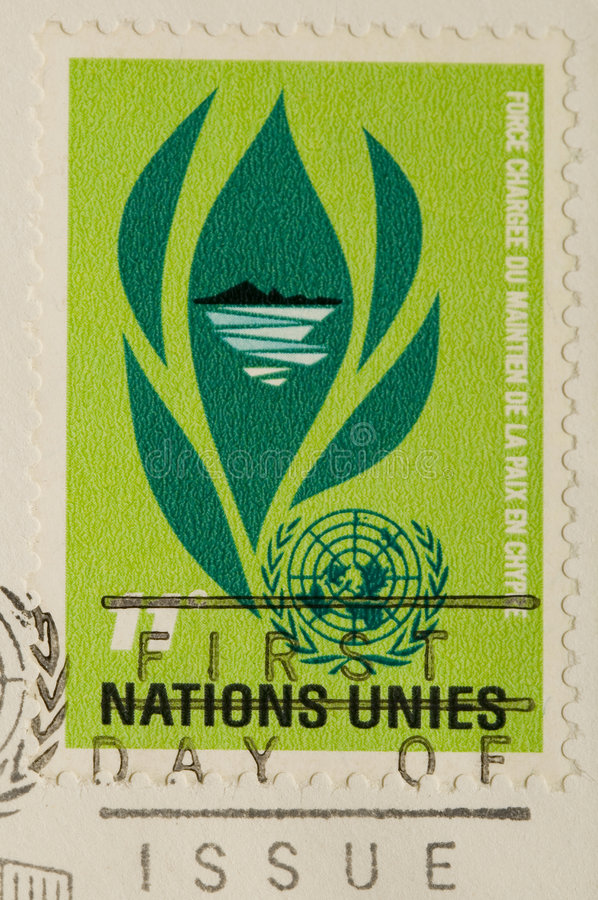 Vintage 1964 Postage Stamp united nations royalty free stock images