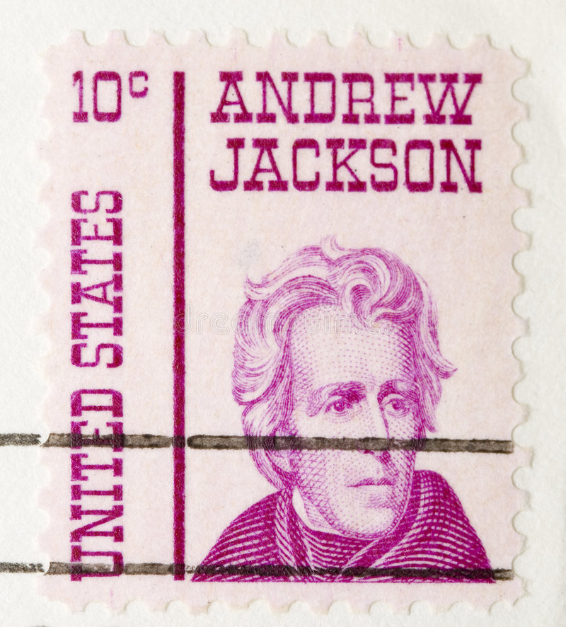 Vintage 1967 Stamp Andrew Jackson stock photography