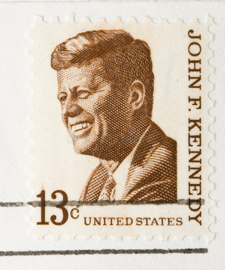 Vintage 1967 Stamp John F Kennedy. This is a vintage 1967 Stamp John F Kennedy royalty free stock photography