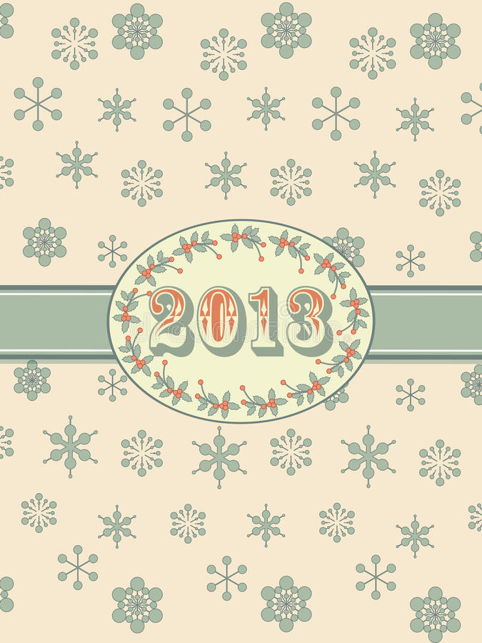 Vintage 2012 background and ribbon vector illustration