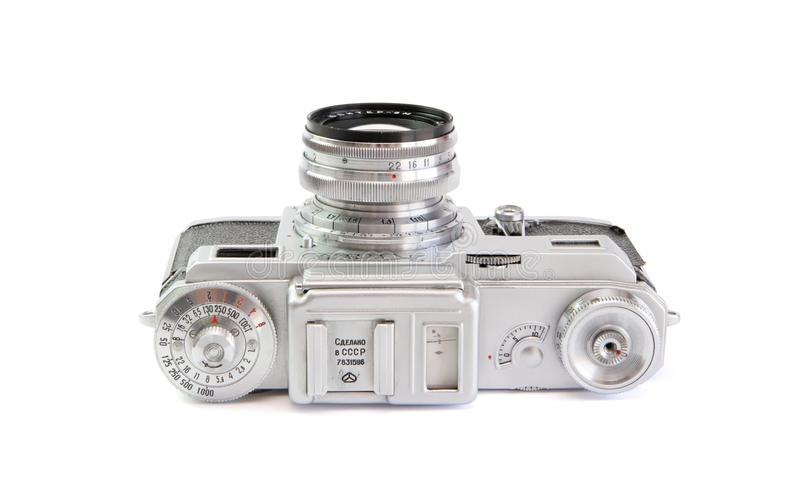 Download Vintage 35mm Film Rangefinder Camera Top View Isol Stock Photo - Image: 10253908