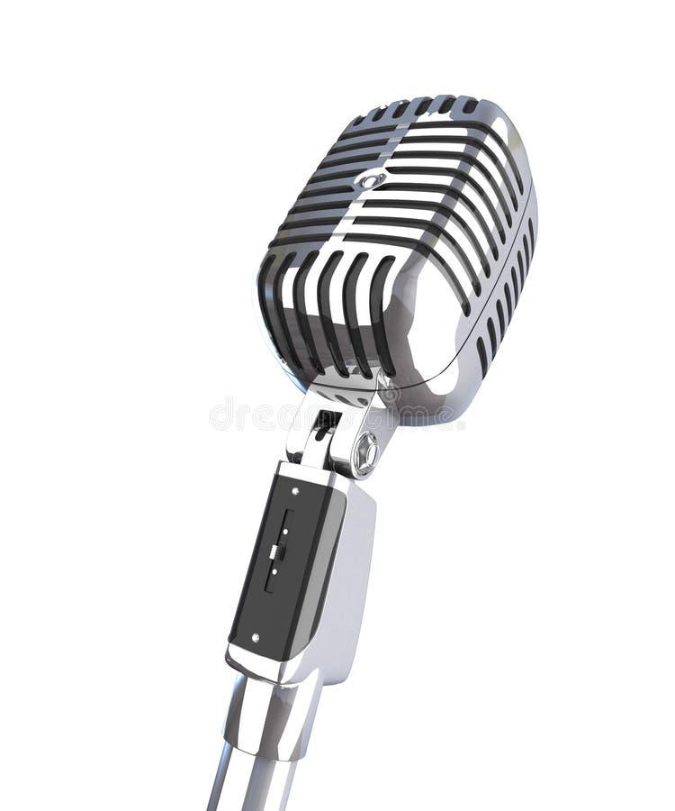 Vintage 3d microphone vector illustration
