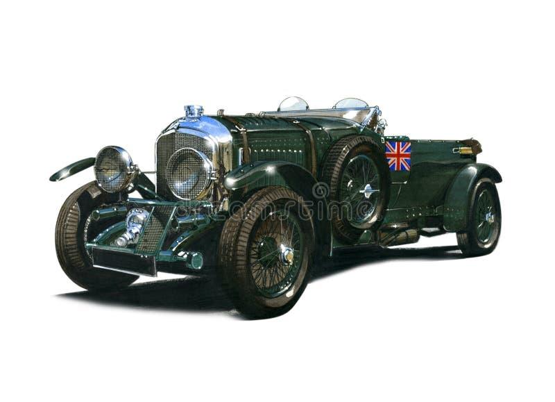 Vintage 4 y un medio ventilador Bentley del litro libre illustration