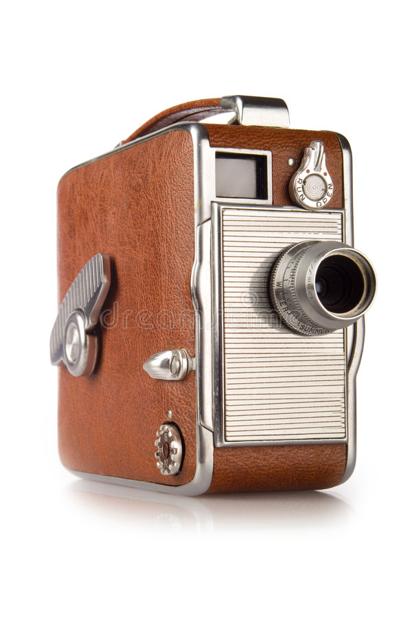Vintage 8mm Film Camera. Vintage retro 8mm film camera stock photo