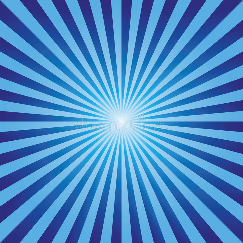 Vintage abstract background explosion blue rays vector stock illustration