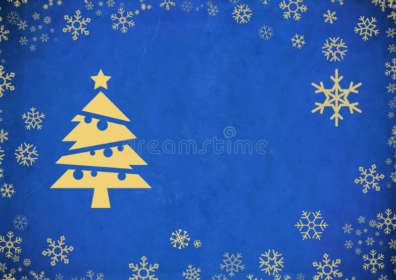 Vintage Abstract Christmas Background. Blue Vintage Abstract Christmas Background royalty free illustration
