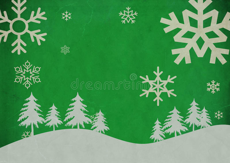 Vintage Abstract Christmas Background. Green Vintage Abstract Christmas Background vector illustration