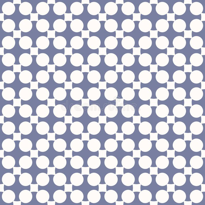 Vintage abstract geometric seamless pattern. Blue serenity and white colors. Vintage abstract geometric seamless pattern. Ornamental background in pastel colors royalty free illustration