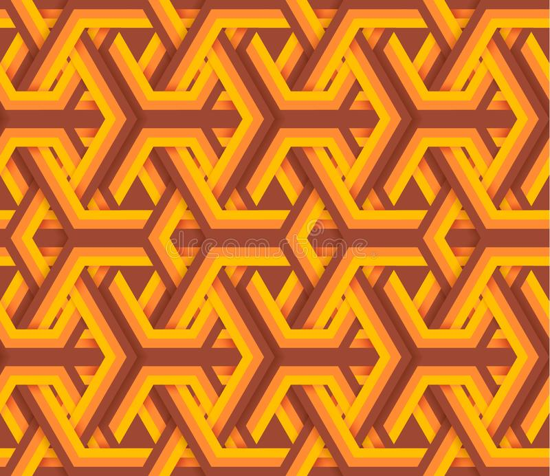 Vintage abstract geometry seamless pattern vector illustration. royalty free stock photo