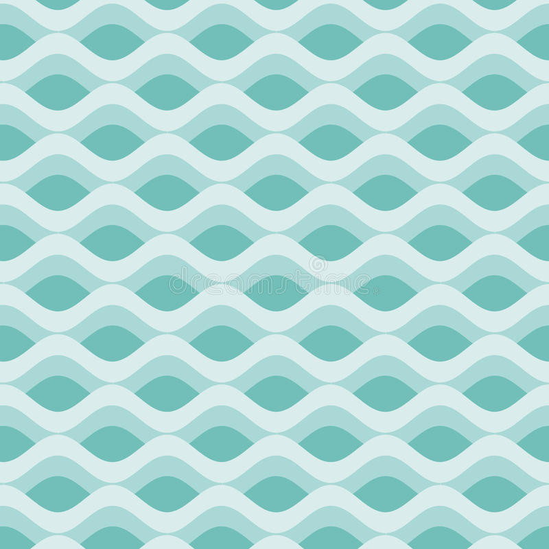 Vintage abstract waves background vector illustration