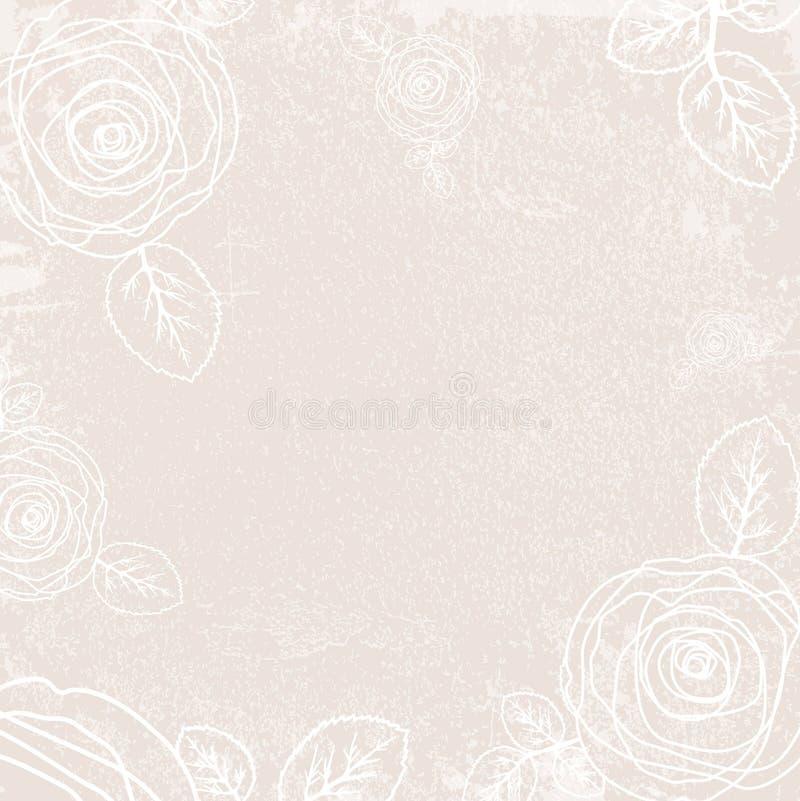 Vintage abstrato Rose Background ilustração royalty free