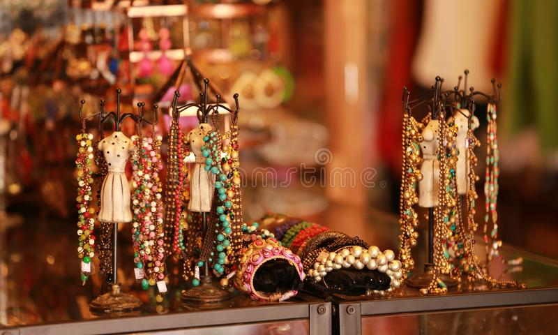 Vintage accessories in Arab street, Singapore stock photos