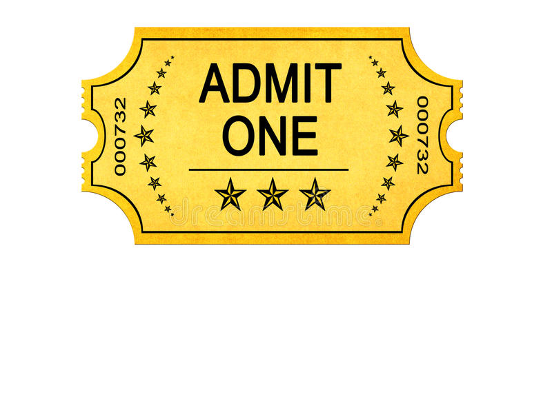 Vintage admit one entrance ticket royalty free stock photos
