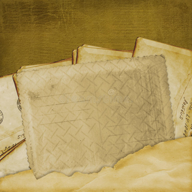 Vintage Aged Background, Old Postcard Royalty Free Stock Photo