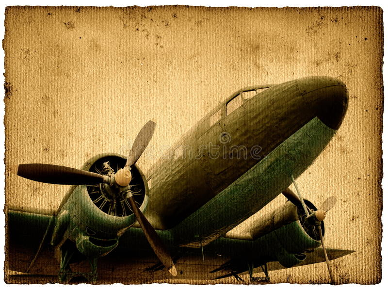 Vintage aircraft stock images