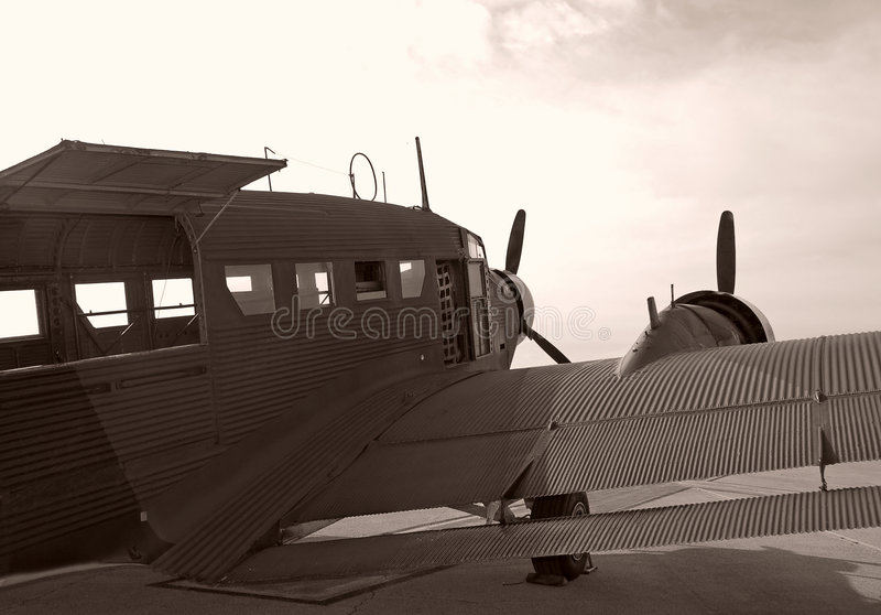 Download Vintage aircraft stock photo. Image of faded, behind, aged - 4246546