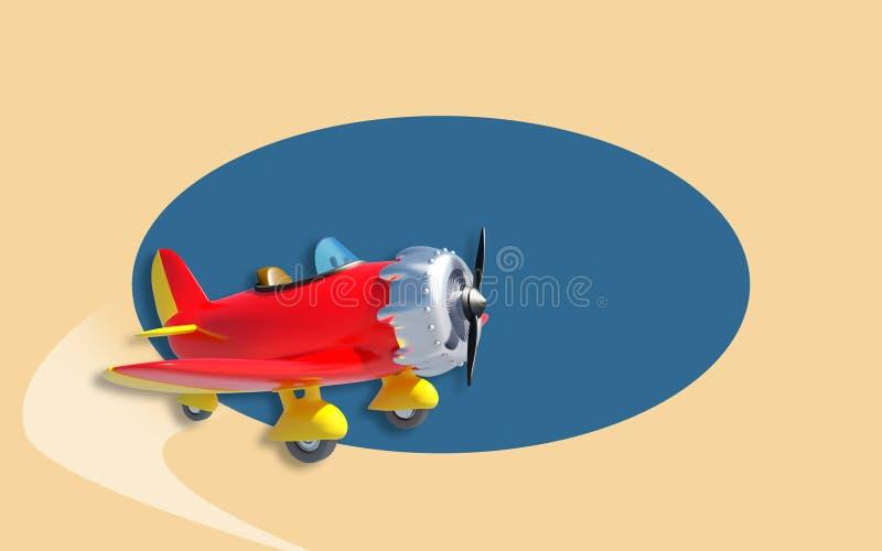 Vintage aircraft royalty free illustration