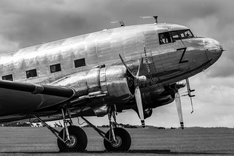 Vintage airliner royalty free stock photography