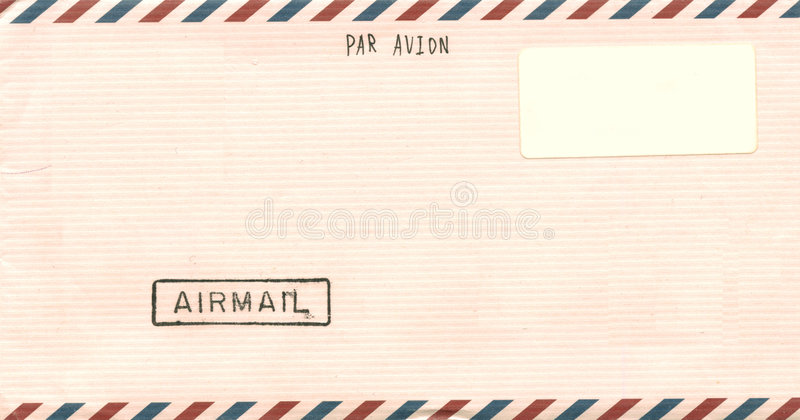 Vintage Airmail Envelope Stock Photography