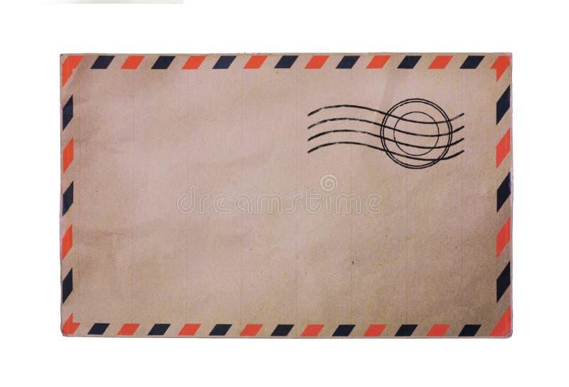 Vintage airmail envelope. Isolated on white background stock photos