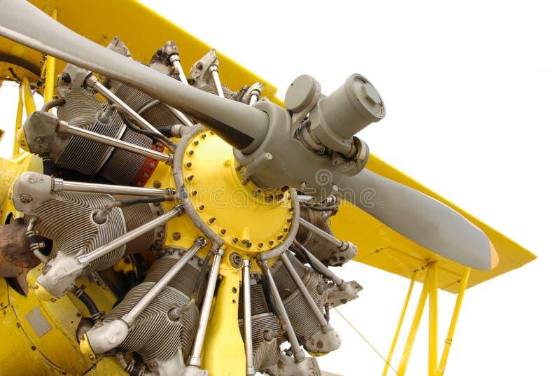 Vintage airplane engine royalty free stock photos