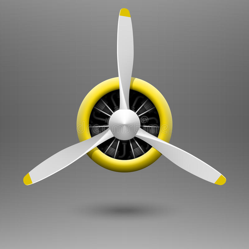 Free Vintage Airplane Propeller With Radial Engine Stock Photography - 45205652