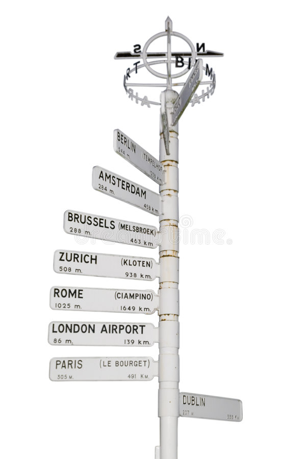 Download Vintage airport sign stock photo. Image of travel, white - 3362928