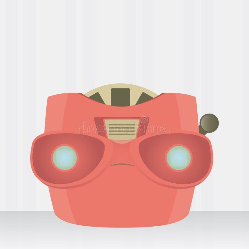 Vintage ajustado do visor 3D estereofônico ilustração stock