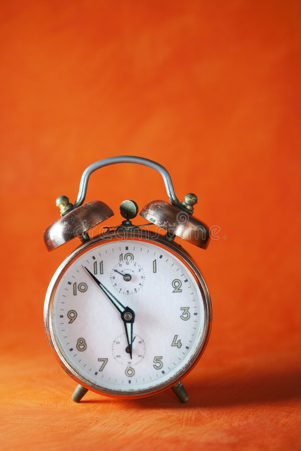 Vintage alarm clock royalty free stock photography