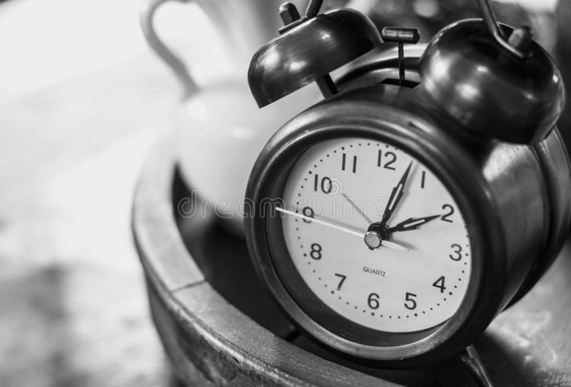 Vintage Alarm Clock Setting the Deadline royalty free stock photos