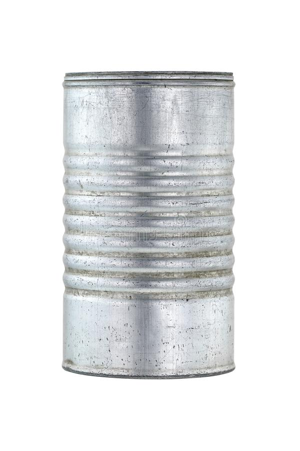 Vintage aluminum milk powder can isolated on white stock images