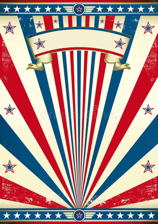 Vintage america royalty free illustration