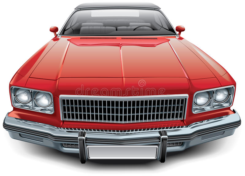 Vintage American coupe convertible royalty free illustration