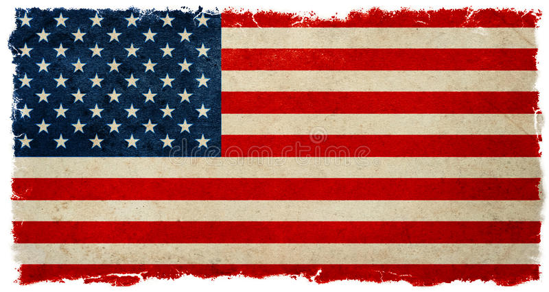 Vintage american flag. Grunge banner background election results royalty free stock photo