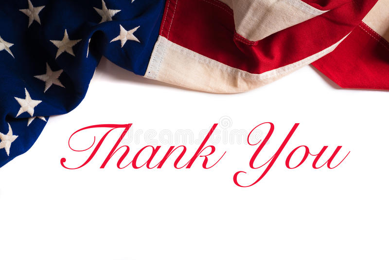 Vintage American Flag for Veterans day royalty free stock image