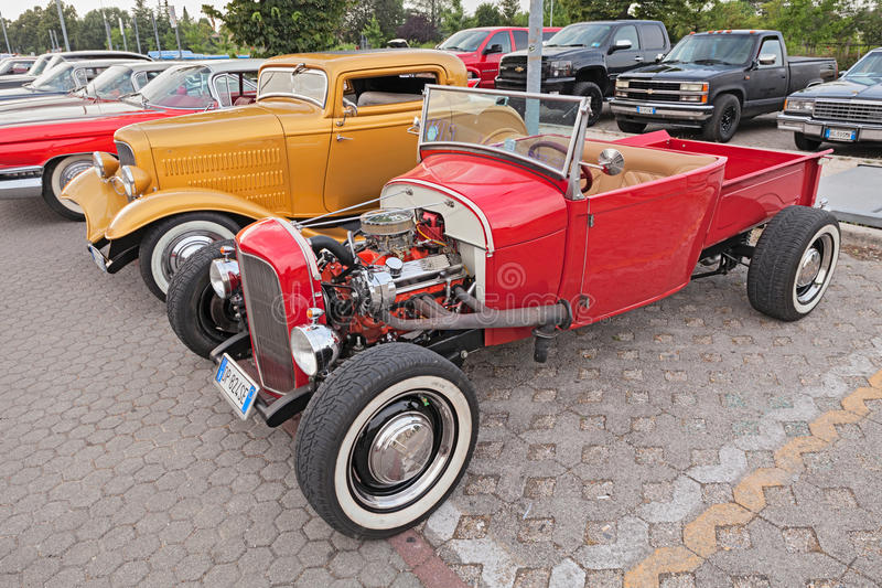 Vintage american hot rod pickup Ford stock photography