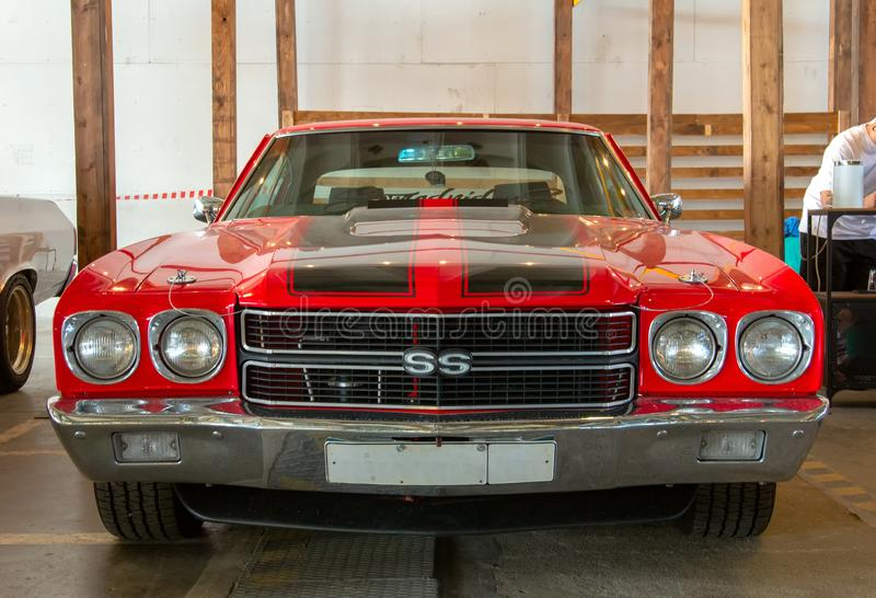 Vintage american muscle-car 1970 Chevrolet Chevelle SS stock images