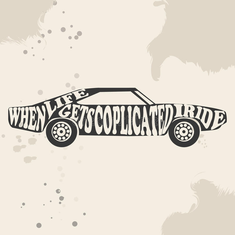 Vintage American Muscle Car Vector Silhouette. Stock Vector ...