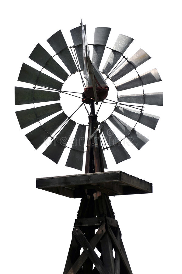 Vintage American Wind Mill royalty free stock photos