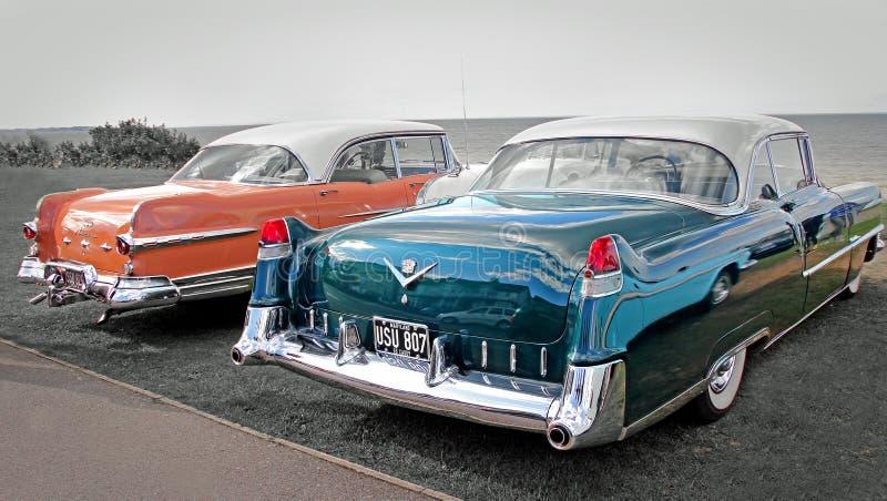 Vintage americano dos carros foto de stock royalty free