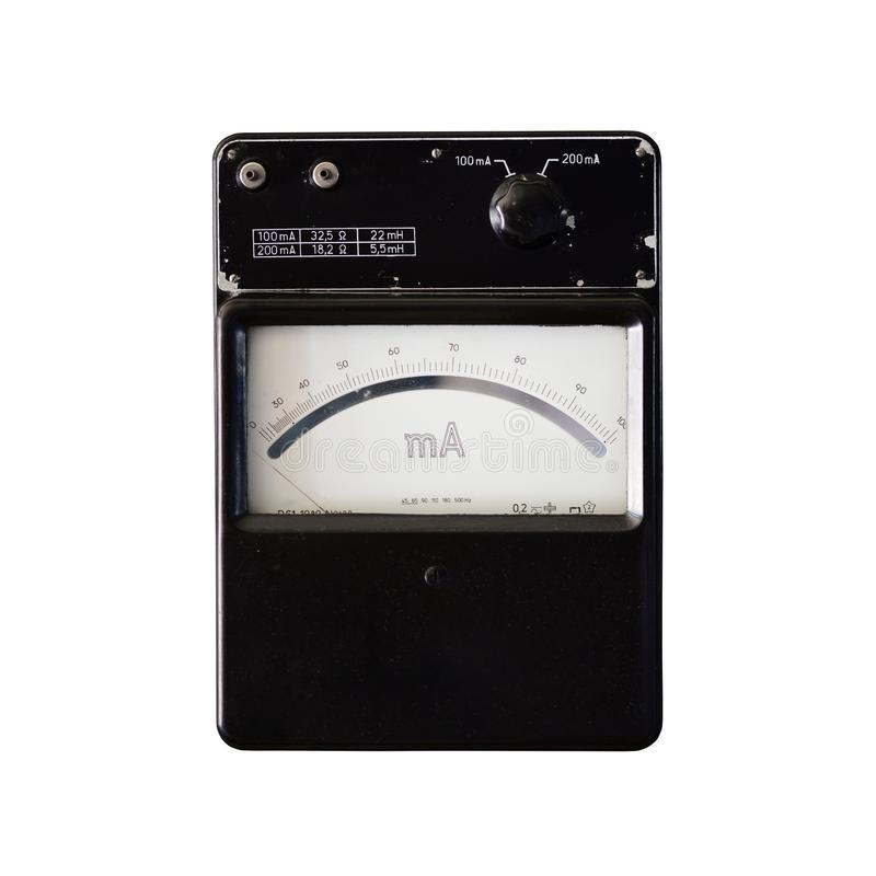 vintage ammeter isolated royalty free stock photos