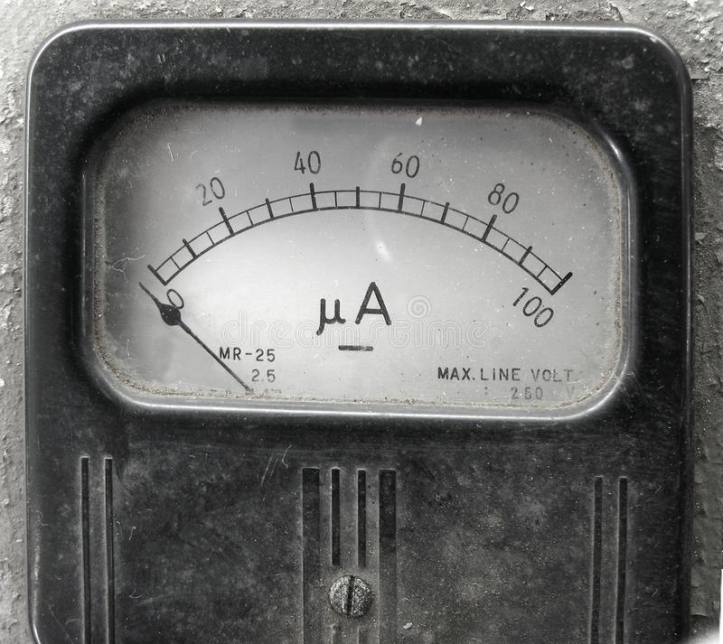 Download Vintage Ampere Meter stock photo. Image of zero, measurement - 10427656