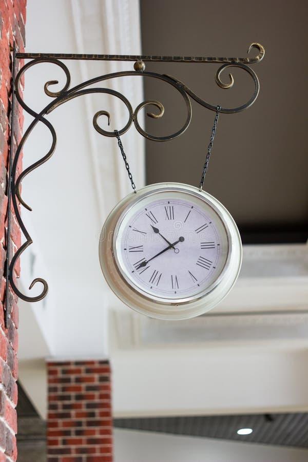 Vintage analog clock on street of Russia. Vintage analog clock on street of Russia stock photos