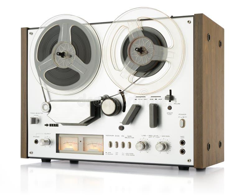 Vintage analog recorder reel to reel royalty free stock image