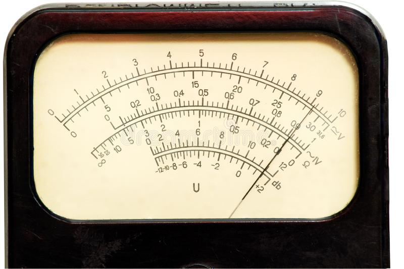 Vintage analog scale stock photography