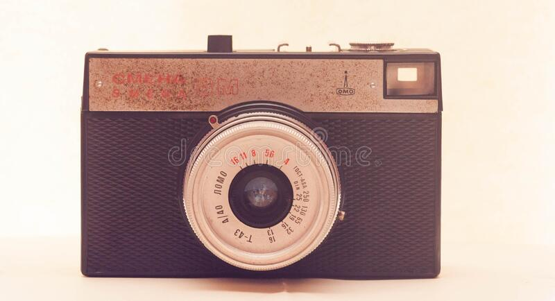 Vintage analogue camera stock images