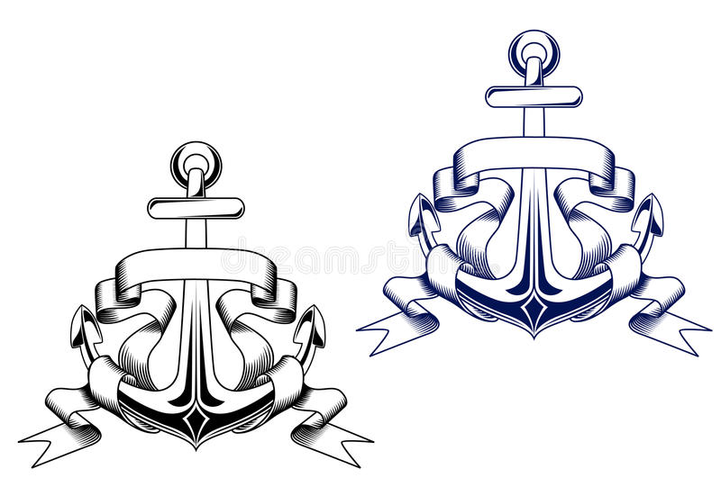 Vintage anchors stock illustration